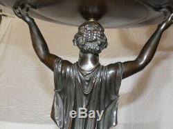Woman Holding A Cup Bronze Art Deco R. Cochet, Founder J. D'estray Betting