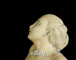 Woman In Swimsuit Beach Sculpture Art Deco C1930 Woman In Swimsuit