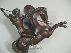 Women's Warrior Amazon Horse Sculpture Art Deco Bronze After Molins Balleste
