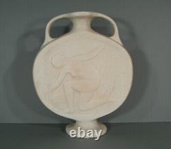 Young Vase Style Art Deco Ceramics Cracked Signed Octave Larrieu