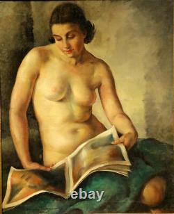 1930 Jeune Beau Nu Femme Art Déco Russe Style