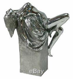 ALUMINIUM Statue de femme sur podium POLI- MAT (1129)
