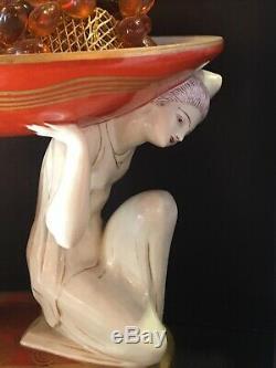 Aladin De Luxe. P. Traverse Lampe Art Deco Femmes