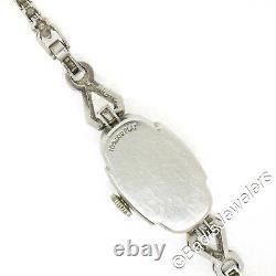 Ancien Art Déco Platine 1.16ctw Diamant Bracelet Suisse Belvil 17j Montre