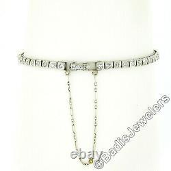 Ancien Art Déco Platine 2.20ctw Marquise & Diamant Rond Poignet Montre Bracelet