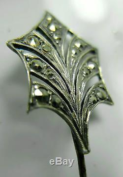 Ancien bijou Épingle à cheveux en argent Epoque Art-déco 30's