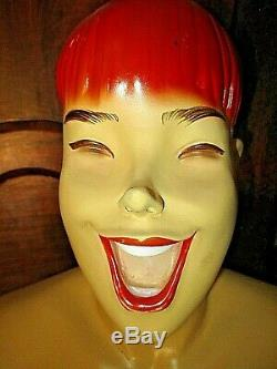 Ancien buste de lingerie-Pin Up-Mannequin nu de femme rousse vintage 1950