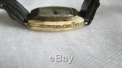 Ancienne montre bracelet Art Déco or massif de marque FLIX