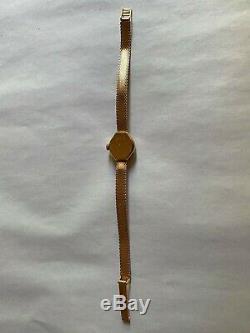 Ancienne montre bracelet femme en OR 18k, 11 gr, Mod Art Déco, jamais portée