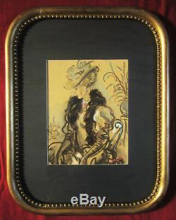 Andre Collot Dessin Tableau Aquarelle Portrait Femme Elegante Art Deco Annees 20