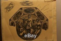 André Metthey (1871-1920) dessin encre projet ceramique art déco, femme