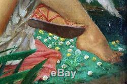 André Pierre LUPIAC, tableau, peinture, mythologie, Art Déco, femme, érotisme