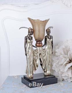 Art Deco Lampe de table Femme Fatale lampe de bureau Gatsby retro luminaire neuf