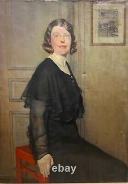 Art deco portrait Paul Maurice Maillard (1888-1975) Femme En Noir, 1932