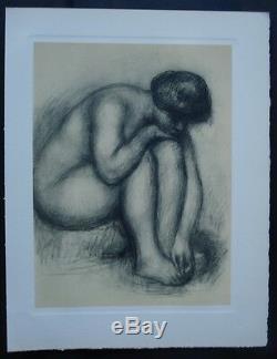 Auguste Renoir (d'après) Femme nue assise Gravure #1952