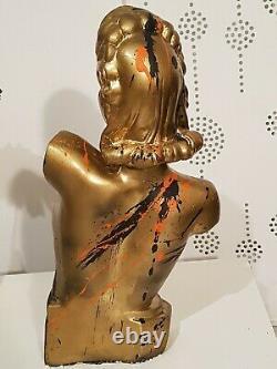 BUSTE RAVI FEMME PLATRE DESING ART DECO MAGASIN PIN UP ÉROTIQUE no marianne