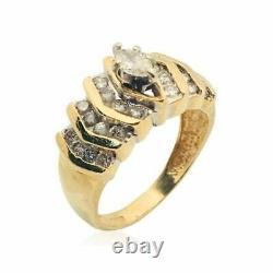 Bague ancienne pour femmes or jaune 18 k diamant ring vintage