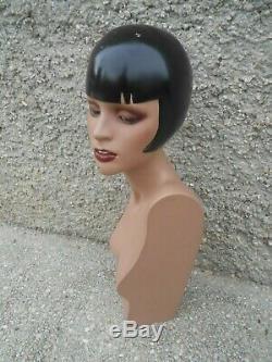 Beau buste femme résine d'époque Art déco circa XXème