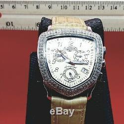 Beige. 75 Carat Fin Bijoux Diamant Montres Véritable Véritable Diamants. Suisse