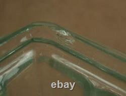 Bel Important Vase Art Deco A Decor De Femme En Verre Moulé Pressé Signé Etling