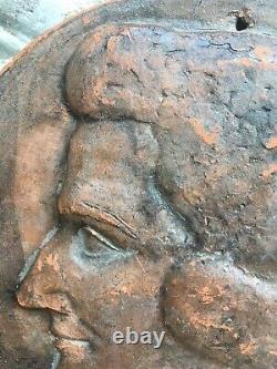 Belle Terre Cuite Joseph Andrau sculpture Toulouse Portrait Femme Art DECO 1949
