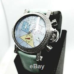 Bleu 1.05 Carat Bijoux Montre Diamant pour Femmes Naturel
