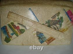 Bourse ancienne Art Déco Japon 3 singes antique flapper clutch purse bag