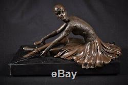 Bronze Sculpture Figurine Danseuse Ballerine Femme Tanara Art Déco
