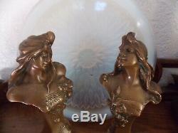 Bronzes art deco femme signé walter