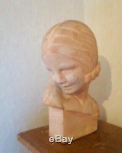 Buste de femme art-déco signé Guéro