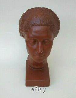 Buste de femme par Claudius Linossier 1927 Art Déco Liberty