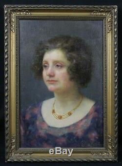 Charles MORANCÉ (1872-1935) Portrait de femme Boulogne-sur-Seine Sarthe musée