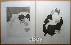Charles Martin Lot De 15 Gravures Erotique Art Deco, Femme Nu, Couple