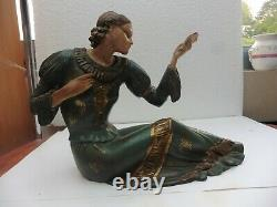 Chryséléphantine bronze probablement et matière précieuse femme art Déco
