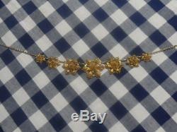 Collier draperie ancienne filigrane doré. Xixe xxe art deco