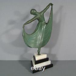 Danseuse Femme Sculpture Art Déco Régule Signé Gilbert Statue Louise Brooks