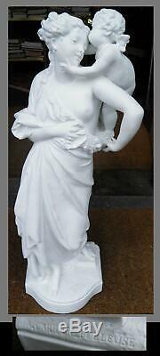 EUGENE CARRIER BELLEUSE ANCIENNE STATUE DE FEMME ALLEGORIE XIXeme modèle signé