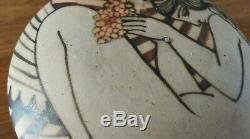 EXCEPTIONNEL! Ciboure Vilotte décor art déco, style René Buthaud, femme nue