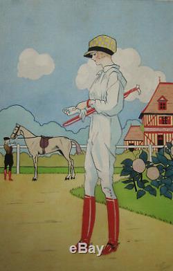 Ernest Gaillard Album Aquarelles Dessins Cambrai Musee Grande Guerre 14-18 Femme