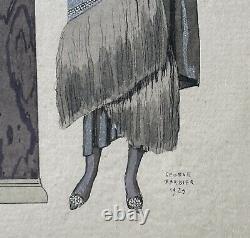 Eros Art Déco Femmes Georges Barbier (1882-1932) 30 X 25,5 CM