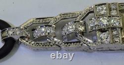 Étonnant Ancien Art-Deco Platinum&diamonds Bella, Geneve Femmes Bracelet c1920