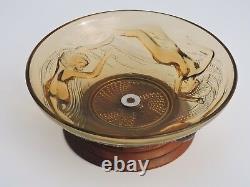 Femme Nue Naïades Coupe En Verre Moulé Art Déco