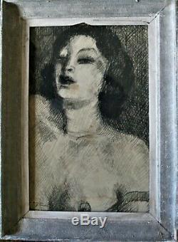 Fusain-art Deco-annee Folle-bernard Lamotte-danseuse-1930-jeune Femme-portrait
