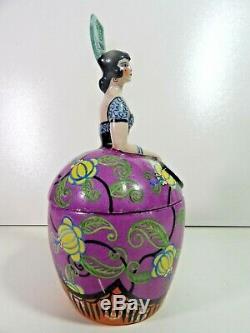 G. LEBON janvier 1925 Superbe boite bonbonniere femme espagnole Art Dèco