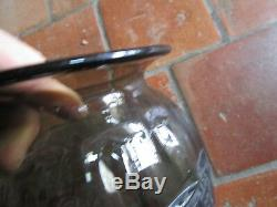 Grand vase art déco en verre moulé-pressé Femmes nues
