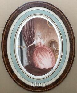 Gravure Art Déco Charles Naillod Scène Galante Erotique Femme Amant Chien 30/380