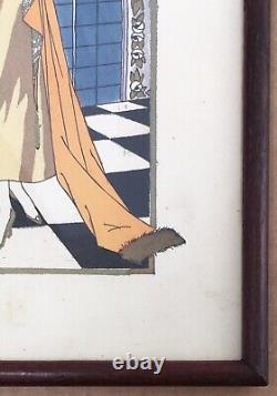 Gravure Mode Art Déco Portrait Femme Élégante Albert Jarach Paul Chambry 1920s