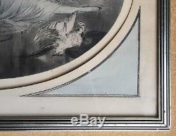 Gravure aquatinte Art Nouveau Art Déco Femmes aux perroquets style Louis Icart