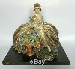 Guido Cacciapuoti Ancienne Femme Et Bebe En Porcelaine Art Deco Lady Italy