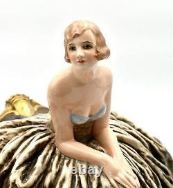 Guido Cacciapuoti Italie art déco sculpture femme italian lady sculpture